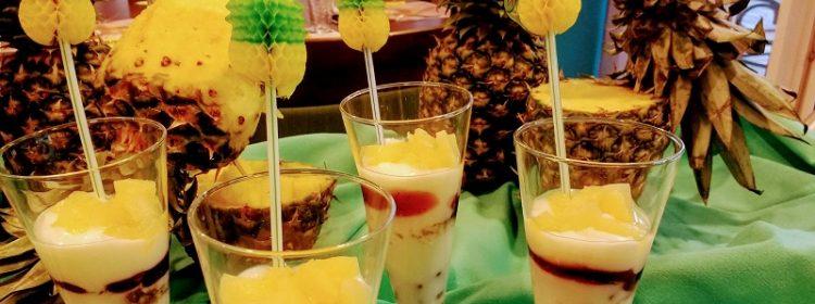 Gastvrijheiddag Gabriel toetje met ananas